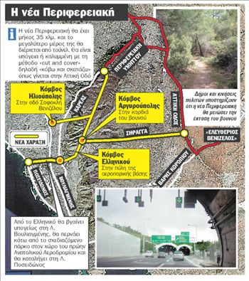 Ένα τούνελ η νέα περιφερειακή του Υμηττού | tanea.gr