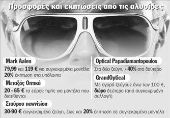 f4ca997296 Γυαλιά ηλίου μισοτιμής - ΤΑ ΝΕΑ