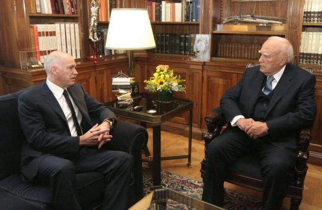 Συνάντηση Παπούλια - Παπανδρέου ενόψει την κρίσιμης Συνόδου Κορυφής | tanea.gr