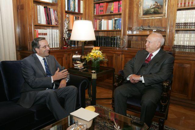 Στον Πρόεδρο της Δημοκρατίας ο Σαμαράς   tanea.gr