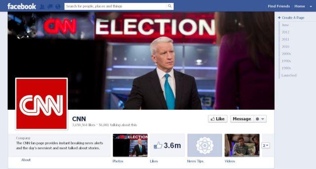 Συμμαχία facebook - CNN ενόψει των εκλογών   tanea.gr