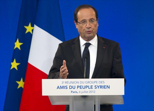 Ολάντ: «Αναπόφευκτη η πτώση του Ασαντ»   tanea.gr