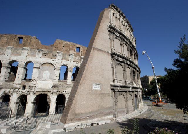 Ρώμη: Επικίνδυνη κλίση πήρε το Κολοσσαίο   tanea.gr