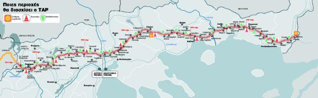 Ολη η διαδρομή των 543 χιλιομέτρων του νέου αγωγού φυσικού αερίου | tanea.gr