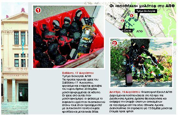 Αναστάτωση από νέο «φορτίο» με μολότοφ στο Αριστοτέλειο   tanea.gr