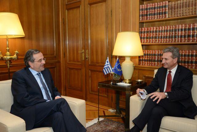 Ενεργειακά θέματα στο τραπέζι της συνάντησης Σαμαρά - Ετινγκερ   tanea.gr