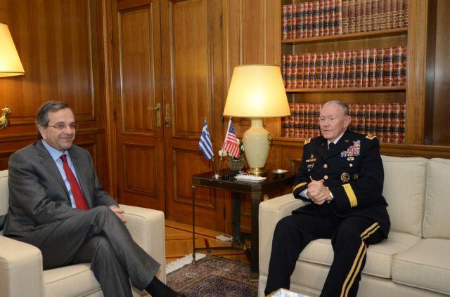 Συνάντηση Σαμαρά με τον αρχηγό των Ενόπλων Δυνάμεων των ΗΠΑ | tanea.gr