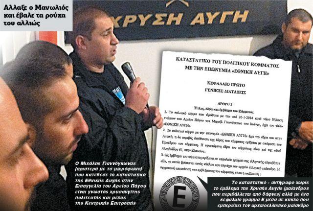 Εθνική Αυγή: Καταστατικό-πρόκληση από τη Χρυσή Αυγή | tanea.gr