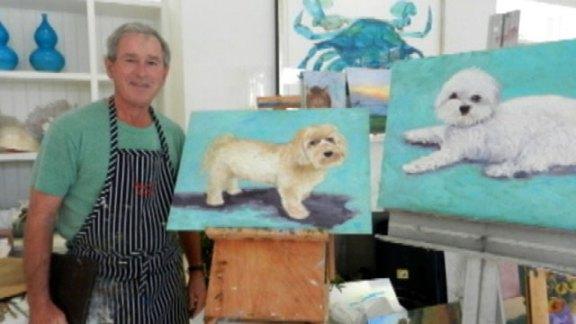 Ο ζωγράφος Τζορτζ Μπους εκθέτει στο Τέξας τον Απρίλιο | tanea.gr