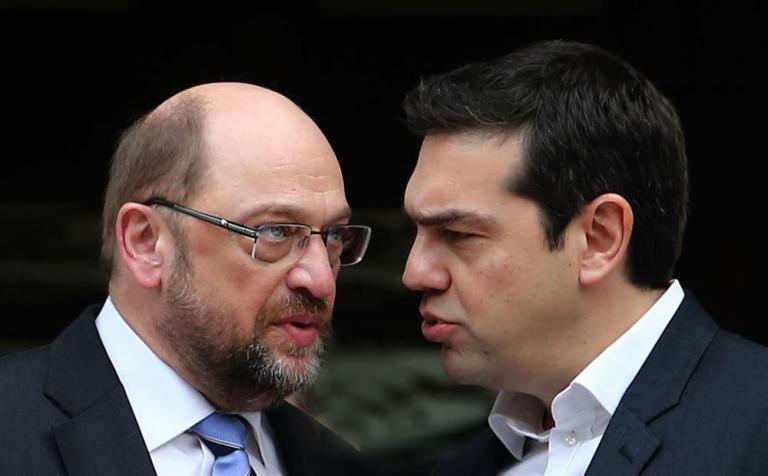 Ο Σουλτς καλεί τον Τσίπρα να «αφοπλιστεί» λεκτικά απέναντι στην Ανγκελα Μέρκελ   tanea.gr