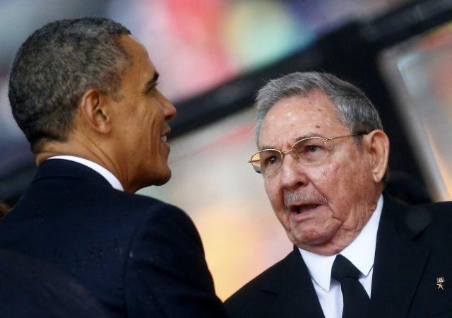 Τηλεφωνική επικοινωνία είχαν Μπαράκ Ομπάμα και Ραούλ Κάστρο   tanea.gr