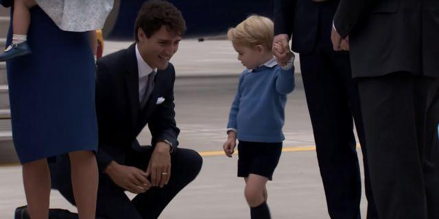 Ο πρίγκιπας Γεώργιος σνόμπαρε τον Τζάστιν Τριντό και προβλημάτισε τους Καναδούς | tanea.gr