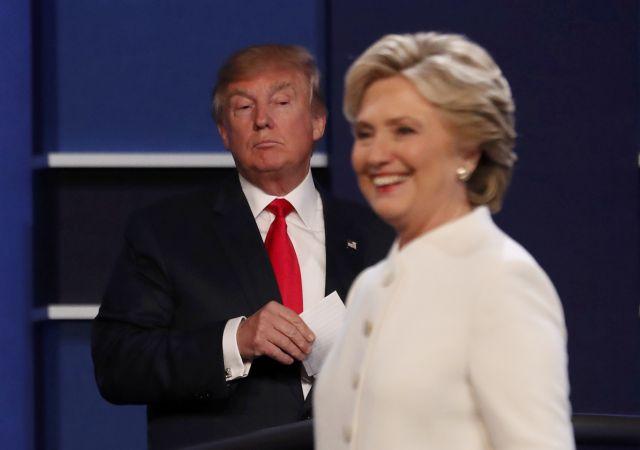 ΗΠΑ: 71,6 εκατομμύρια τηλεθεατές είδαν την τελευταία τηλεμαχία Κλίντον-Τραμπ | tanea.gr
