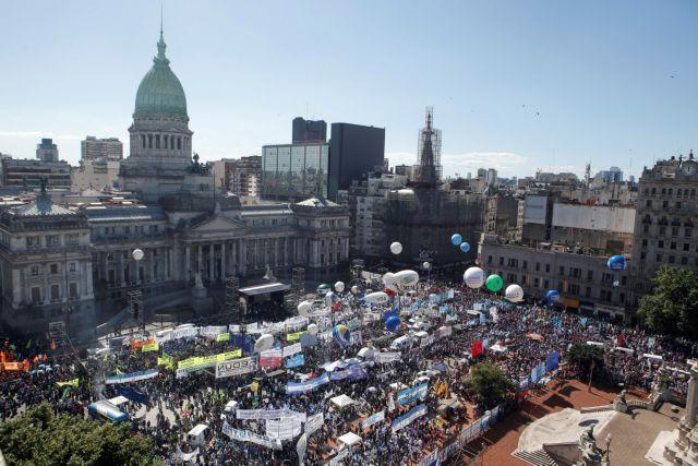 Αργεντινή: Στους δρόμους τα συνδικάτα για την υποστήριξη των φτωχών   tanea.gr