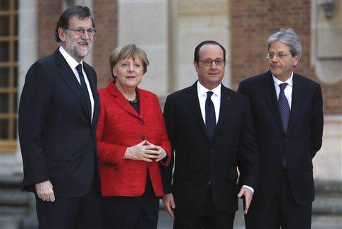 Υπέρ μιας Ευρώπης πολλών ταχυτήτων τάχθηκαν οι τέσσερις ισχυροί της ΕΕ | tanea.gr