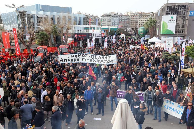 Πορεία διαμαρτυρίας αγροτών στο κέντρο της Θεσσαλονίκης   tanea.gr