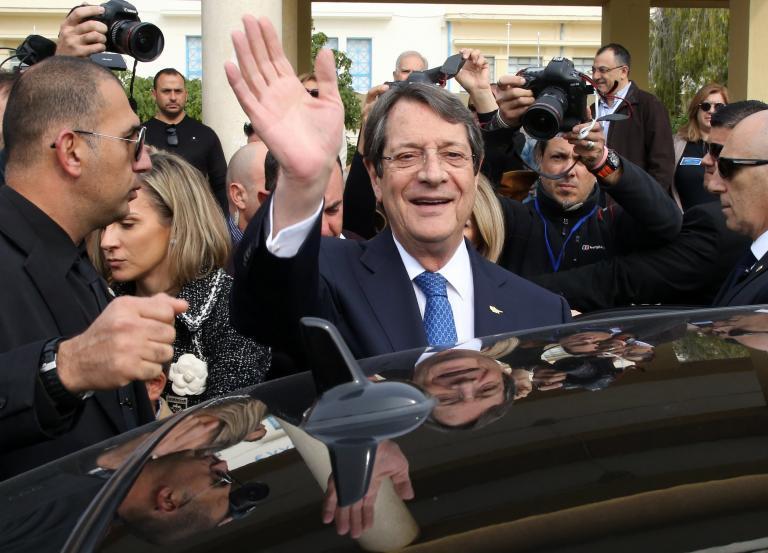 Επανεξελέγη πρόεδρος της Κυπριακής Δημοκρατίας ο Αναστασιάδης | tanea.gr