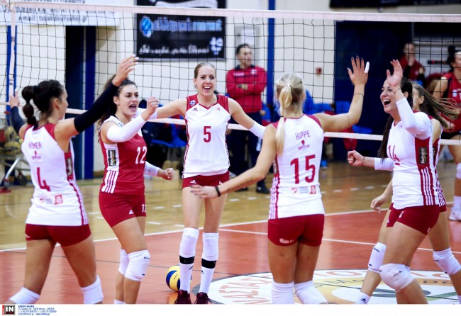 Βόλεϊ: Τα κορίτσια του Ολυμπιακού προκρίθηκαν στις «8» του Τσάλεντζ Καπ | tanea.gr