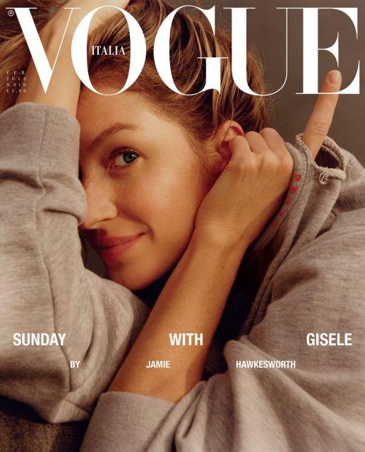 Χωρίς ίχνος μακιγιάζ η Ζιζέλ στο εξώφυλλο της ιταλικής «Vogue» | tanea.gr