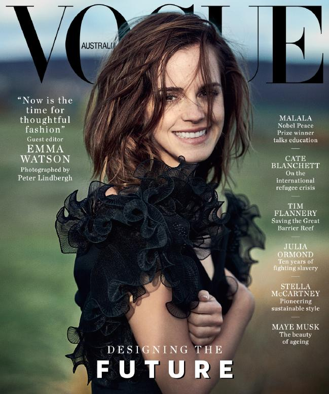 H Eμα Γουάτσον φωτογραφήθηκε για το εξώφυλλο του Vogue Australia | tanea.gr