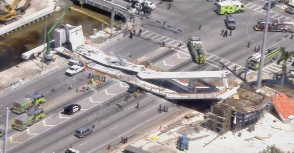 Τουλάχιστον τέσσερις νεκροί από κατάρρευση πεζογέφυρας στο Μαϊάμι (βίντεο)   tanea.gr