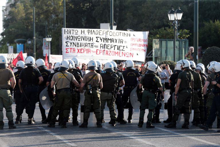 Συγκέντρωση διαμαρτυρίας στη ΓΣ του ΣΕΒ στο Μέγαρο Μουσικής | tanea.gr