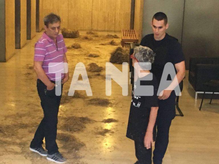Πέταξαν σανό στην είσοδο των γραφείων των ΑΝΕΛ | tanea.gr