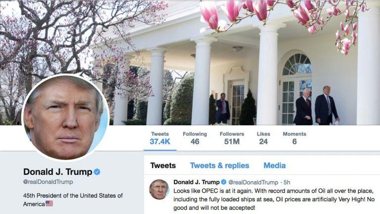 Ο Τραμπ «ηγέτης» του Twitter με 52 εκατ. followers | tanea.gr