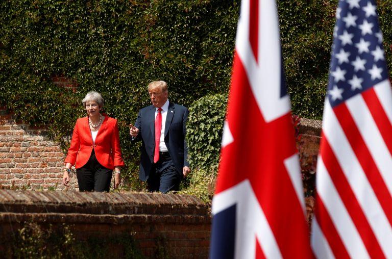 Τραμπ και Μέι συμφώνησαν να τα βρουν μετά το Brexit | tanea.gr