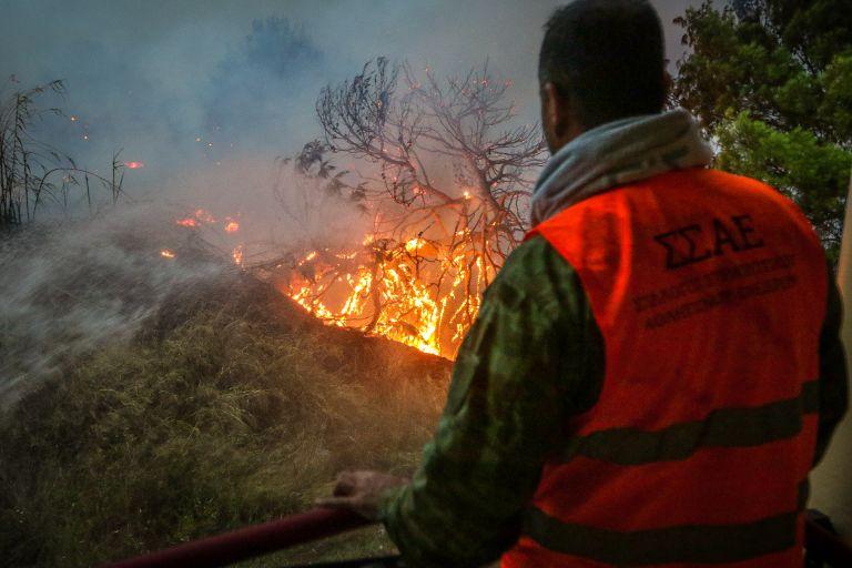 Συνεχίζεται η μάχη με τις φλόγες στην Κορινθία | tanea.gr