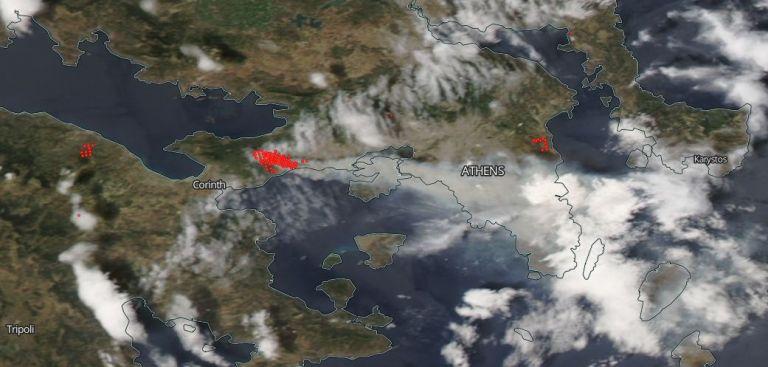 Η τραγωδία στην Αττική όπως την είδαν οι δορυφόροι από το Διάστημα   tanea.gr