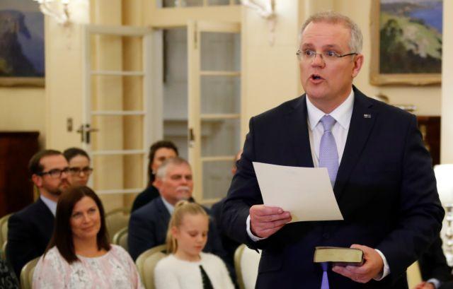 Ορκίστηκε πρωθυπουργός ο Σκοτ Μόρισον   tanea.gr