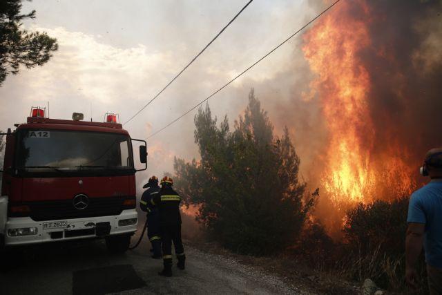 Πυρκαγιά στη Σαρωνίδα : Οι ισχυροί άνεμοι δυσχεραίνουν το έργο της πυρόσβεσης   tanea.gr