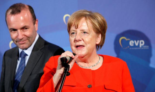 Η Μέρκελ στηρίζει την υποψηφιότητα Βέμπερ για την προεδρία της ΕΕ   tanea.gr