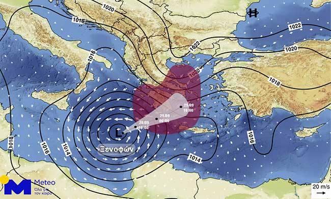 Στο... μάτι του κυκλώνα όλη η Ελλάδα - Δείτε που θα χτυπήσει η κακοκαιρία | tanea.gr