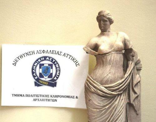 Εκλεψε άγαλμα της θεάς Αφροδίτης στη Σαντορίνη - «Χειροπέδες» στο Λουτράκι | tanea.gr