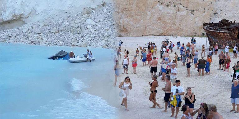 Βίντεο από τη στιγμή της κατολίσθησης στην παραλία Ναυάγιο | tanea.gr