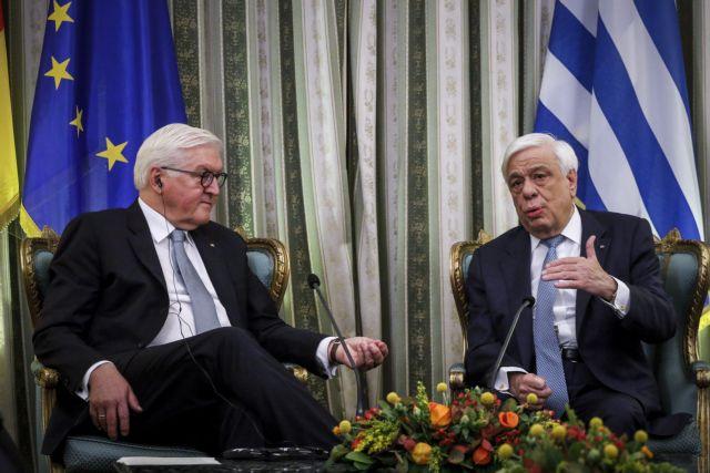 Παυλόπουλος σε Σταϊνμάγερ: Απαράβατος όρος για τη συνέχεια η αναθεώρηση του Συντάγματος της ΠΓΔΜ | tanea.gr