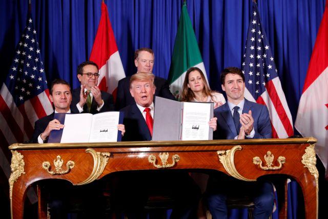 Υπεγράφη η νέα συνθήκη ελεύθερου εμπορίου στη Βόρεια Αμερική   tanea.gr