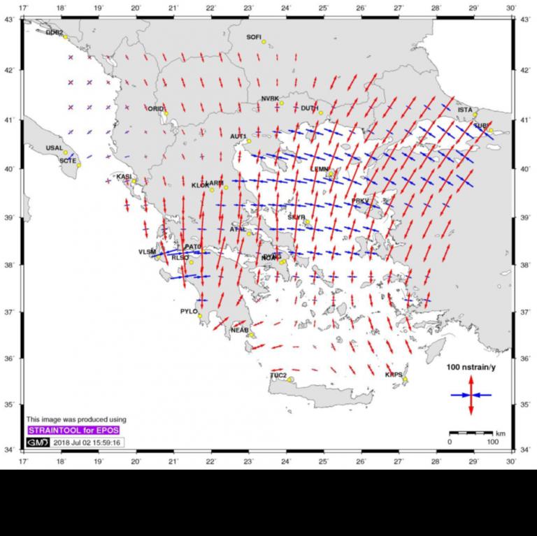 Χάρτες τεκτονικής παραμόρφωσης σε πανευρωπαϊκή κλίμακα από το Αστεροσκοπείο Αθηνών   tanea.gr