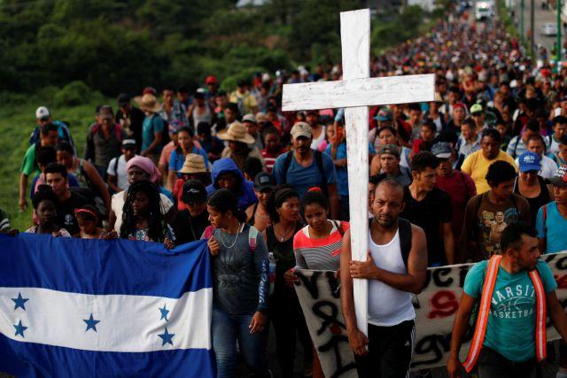 Χιλιάδες μετανάστες στο Μεξικό από το καραβάνι | tanea.gr