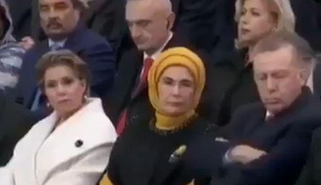 Ο Ερντογάν ξανακοιμήθηκε δημοσίως (βίντεο) | tanea.gr