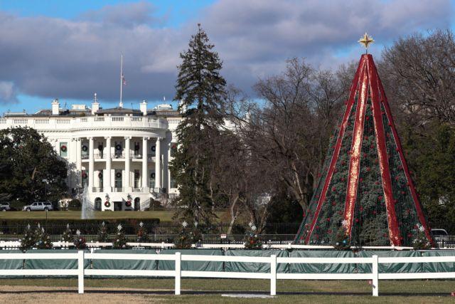 Λουκέτο αμερικανικής κυβέρνησης : Απομονωμένο και το χριστουγεννιάτικο δέντρο της Ουάσιγκτον | tanea.gr