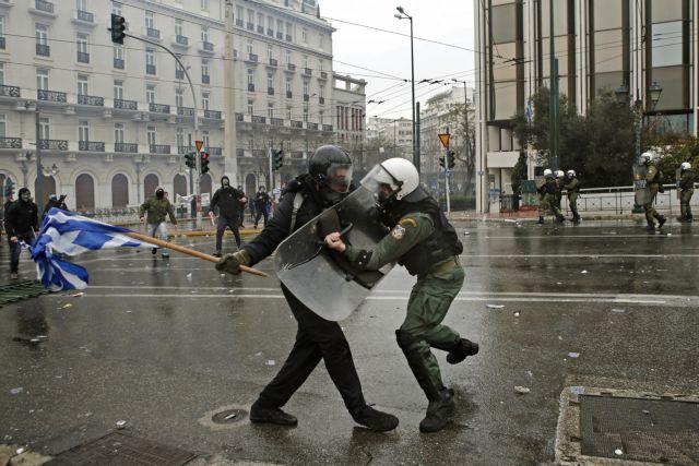 Επτά συλλήψεις και 25 αστυνομικοί τραυματίες | tanea.gr