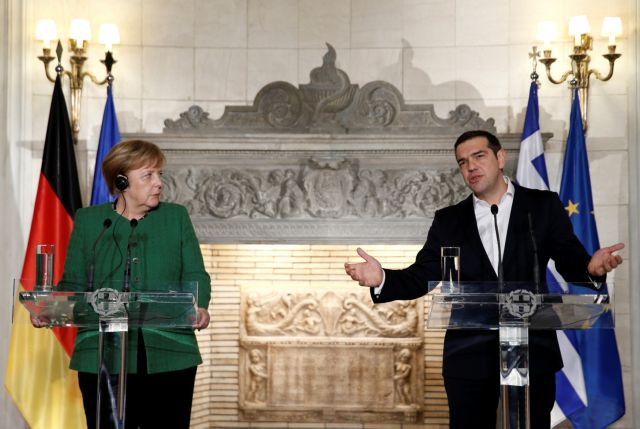 Merkel praises Tsipras for Prespa Accord, stresses continued reforms | tanea.gr