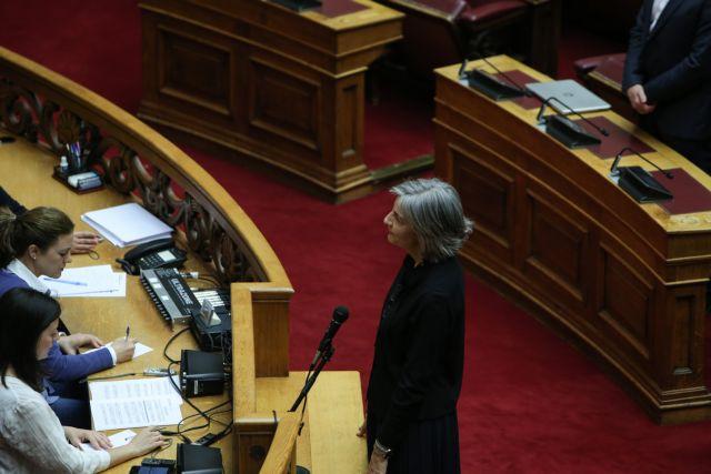 Η Αντιγόνη Λυμπεράκη ορκίστηκε βουλευτής   tanea.gr