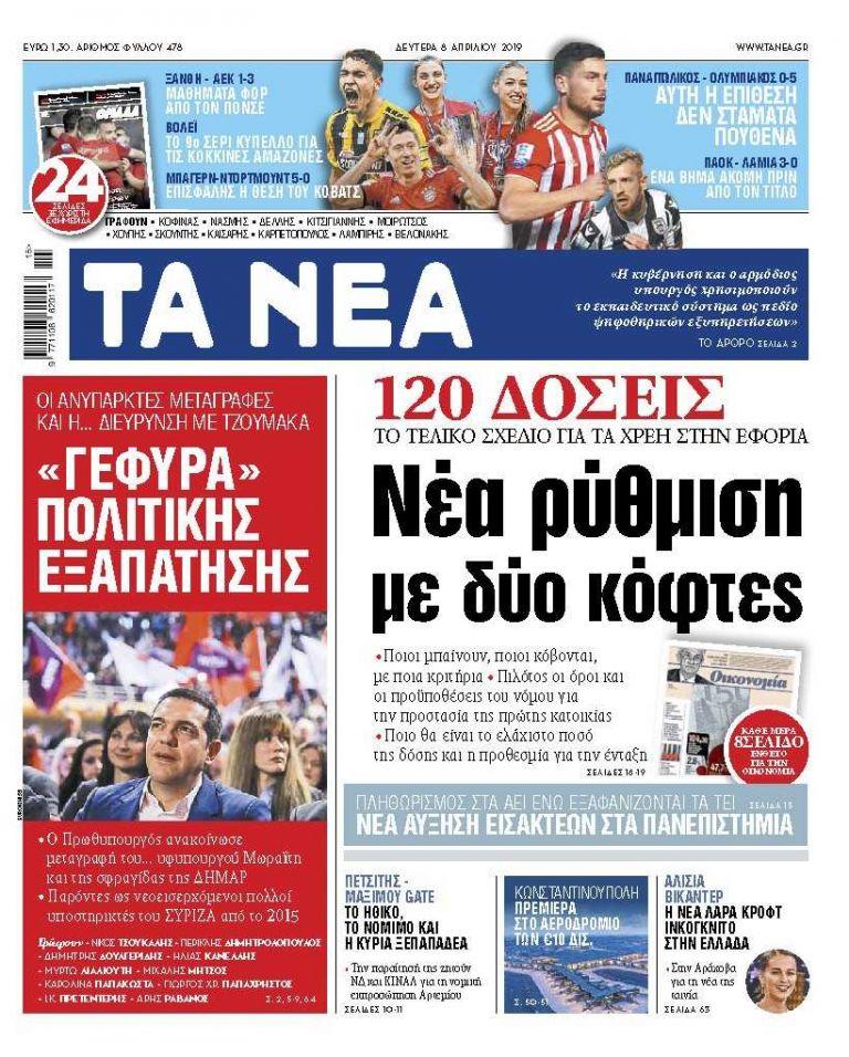 ΝΕΑ 08.04.2019 | tanea.gr