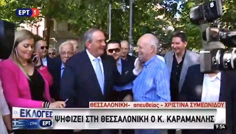 Εκλογές 2019: Ψήφισε ο Κώστας Καραμανλής στη Θεσσαλονίκη | tanea.gr