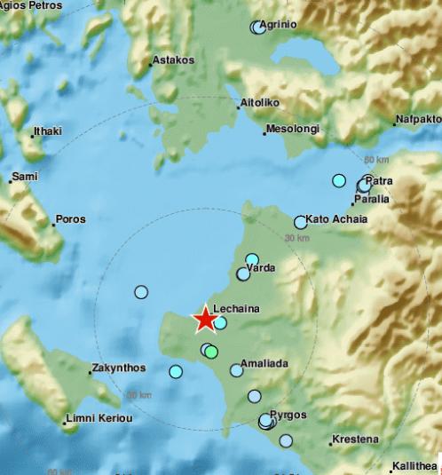 Ταρακουνήθηκε η Κυλλήνη από 4,1 Ρίχτερ   tanea.gr