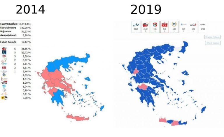 Ευρωεκλογές 2019: Πώς άλλαξε ο πολιτικός χάρτης σε σχέση με το 2014 | tanea.gr